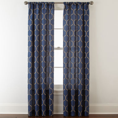 jcpenney.com | Royal Velvet® Geneva Rod-Pocket Curtain Panel