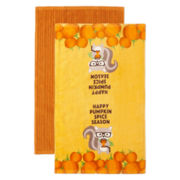 JCPenney Home™ Happy Pumpkin Spice Season Set of 2 Kitchen Towels