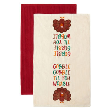 jcpenney.com | JCPenney Home™ Gobble Til You Wobble Set of 2 Kitchen Towels