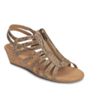A2 by Aerosoles® Yetaway Strap Wedge Sandals - Wide Width
