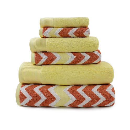 Pacific Coast Textiles™ Chevron Multi 6-Pc. Towel Set