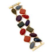 Liz Claiborne Gold-Tone Multicolor Stone Magnet Bracelet