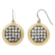 Monet® Gold-Tone Crystal Cluster Drop Earrings