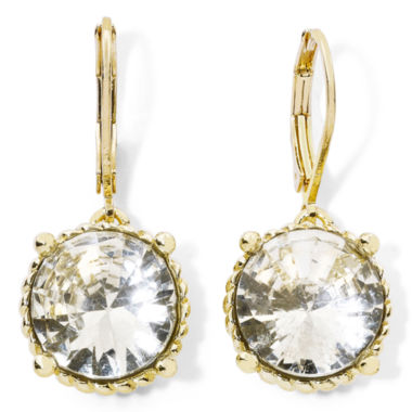 jcpenney.com | Monet® Gold-Tone & Crystal Drop Earrings