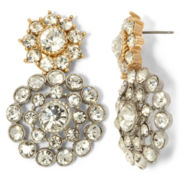 Monet® Gold-Tone & Crystal Double-Drop Earrings