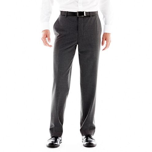 JF J. Ferrar® Stretch Gabardine Flat-Front Suit Pants - Classic Fit