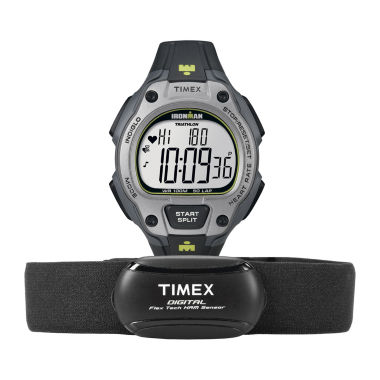 jcpenney.com | Timex® Ironman Road Trainer Heart Rate Monitor Gray Dial Chronograph Watch T5K719F5