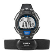Timex® Ironman Road Trainer Mens Heart Rate Monitor Chronograph Black Watch