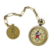 Ingersoll® Disney Mickey Mouse 30's Collection Mens Gold-Tone Pocket Watch
