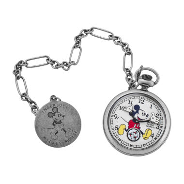 jcpenney.com | Ingersoll® Disney Mickey Mouse 30's Collection Mens Silver-Tone Pocket Watch