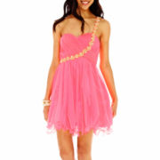 My Michelle® One-Shoulder Embellished Tulle Dress