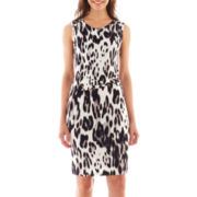 Worthington® Sleeveless Side-Ruched Dress