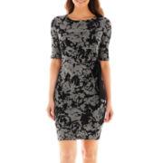 R&K Originals® 3/4-Sleeve Side-Tie Dress
