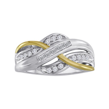 jcpenney.com | 1/4 CT. T.W. Diamond Two-Tone Crossover Ring
