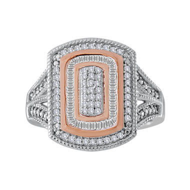 jcpenney.com | 1/3 CT. T.W. Diamond Two-Tone Frame Ring