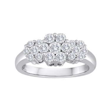 jcpenney.com | diamond blossom 1 CT. T.W. Diamond Cluster Sterling Silver Ring