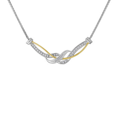 jcpenney.com | 1/4 CT. T.W. Diamond Two-Tone Crossover Necklace