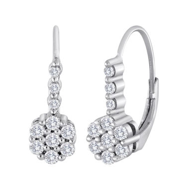 jcpenney.com | diamond blossom 1/2 CT. T.W. Diamond Cluster Sterling Silver Earrings