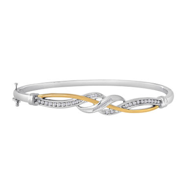 jcpenney.com | 1/4 CT. T.W. Diamond Two-Tone Crossover Bangle Bracelet
