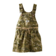OshKosh B'gosh® Camo Twill Jumper – Girls 3m-24m