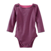 OshKosh B'gosh® Long-Sleeve Ribbed Knit Bodysuit – Girls 3m-24m