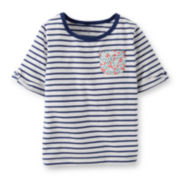Carter's® 3/4-Sleeve Striped Tee – Girls 6m-24m