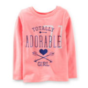 Carter's® Long-Sleeve Totally Adorable Tee – Girls 6m-24m