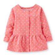 Carter's® Long-Sleeve Polka Dot Peplum Top – Girls 6m-24m
