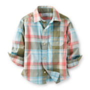 Carter's® Short-Sleeve Button-Front Plaid Shirt – Boys 6m-24m
