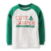 Carter's® Long-Sleeve Knit Raglan Tee – Boys 6m-24m