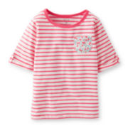 Carter's® 3/4-Sleeve Striped Tee – Girls 2t-4t