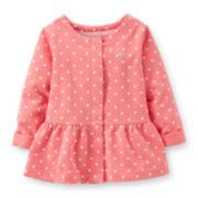 Carter's® Long-Sleeve Polka Dot Peplum Top – Girls 2t-4t
