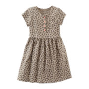 Carter's® Cap-Sleeve Animal Print Knit Dress – Girls 5-6x