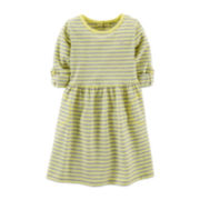 Carter's® 3/4-Sleeve Striped Knit Dress – Girls 5-6x