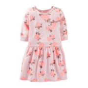 Carter's® 3/4-Sleeve Floral Print Knit Dress – Girls 5-6x