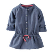 Carter's® Roll-Tab Sleeve Pleated Tunic – Girls 5-6x