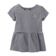 Carter's® Striped Peplum Knit Top – Girls 5-6x