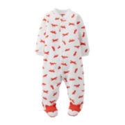 Carter's® Footed Fox Print Sleep and Play – Boys newborn-9m