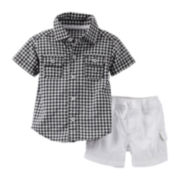 Carter's® 2-pc. Short-Sleeve Shirt and Shorts Set – Boys newborn-24m