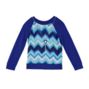 by&by Girl Long-Sleeve Chevron Raglan Shirt with Necklace - Girls 7-16