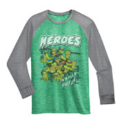 Teenage Mutant Ninja Turtles Long-Sleeve Knit Raglan Tee – Boys 6-18