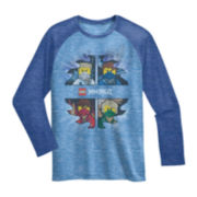 Ninjago Long-Sleeve Knit Raglan Tee – Boys 6-16
