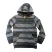 Chalc® Zip-Front Sherpa-Lined Knit Hoodie – Boys 6-18