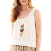 by&by Sleeveless Necklace Top