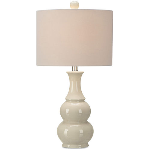 JCPenney Home™ Ivory Crackle Double Gourd Table Lamp