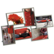 Umbra® Steel 6-Opening Picture Frame