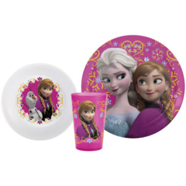 jcpenney.com | Zak Designs® Frozen Anna and Elsa 3-pc. Dinnerware Set