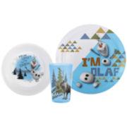 Zak Designs® Frozen Olaf and Sven 3-pc. Dinnerware Set