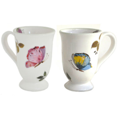 jcpenney.com | Abbiamo Tutto Butterfly Set of 2 Mugs