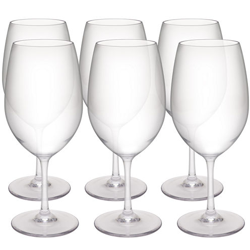 Zak Designs® Trinity Set of 6 Red Wine Glasses